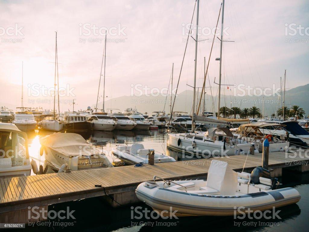 Yacht Porto Montenegro. Elite area of Tivat royalty-free stock photo