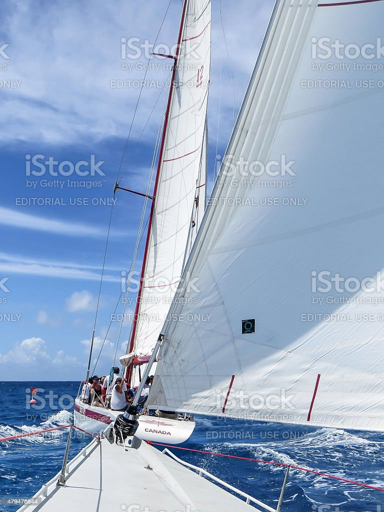 Yacht Race stock photo