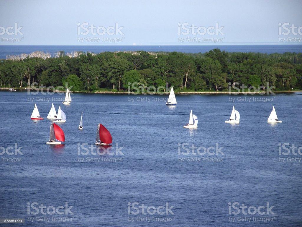 Yacht racing stock photo
