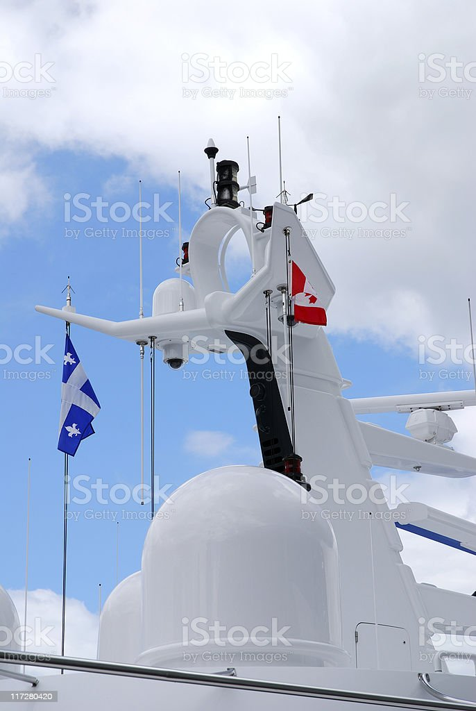 Yacht radar royalty-free stock photo