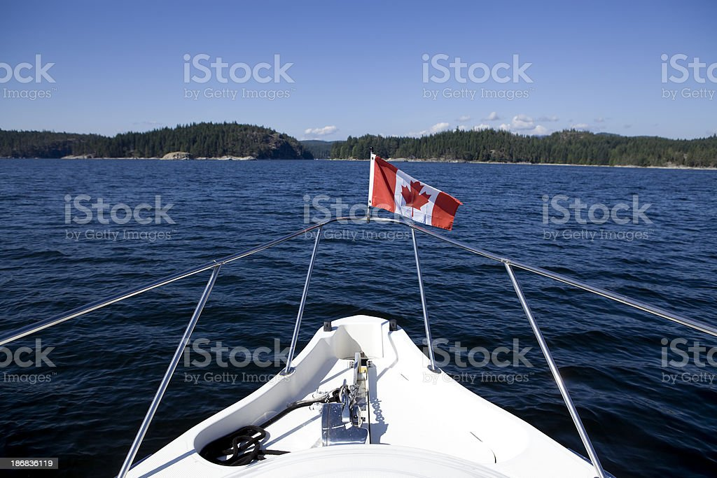yacht recreational boat ship's bow motorboating stock photo