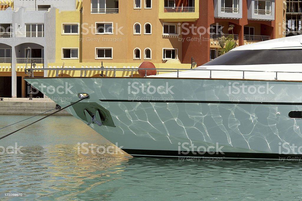 Yacht Reflections royalty-free stock photo