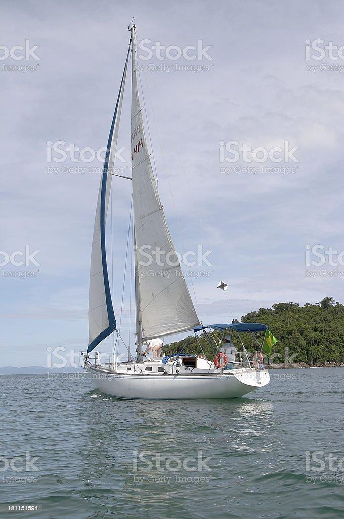yacht  Sailing (Brazil) royalty-free stock photo
