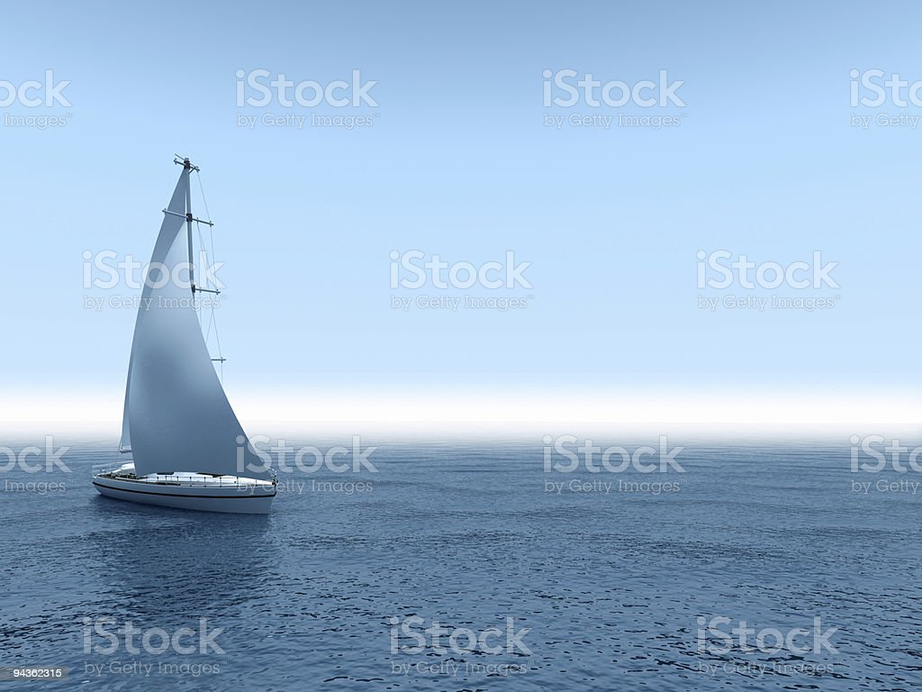 Yacht sea. royalty-free stock photo
