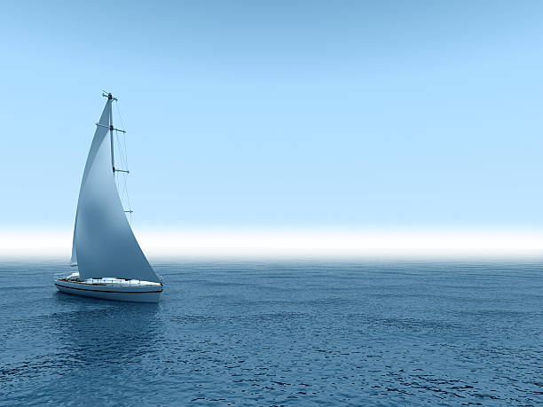 yacht sea. - sail stock pictures, royalty-free photos & images