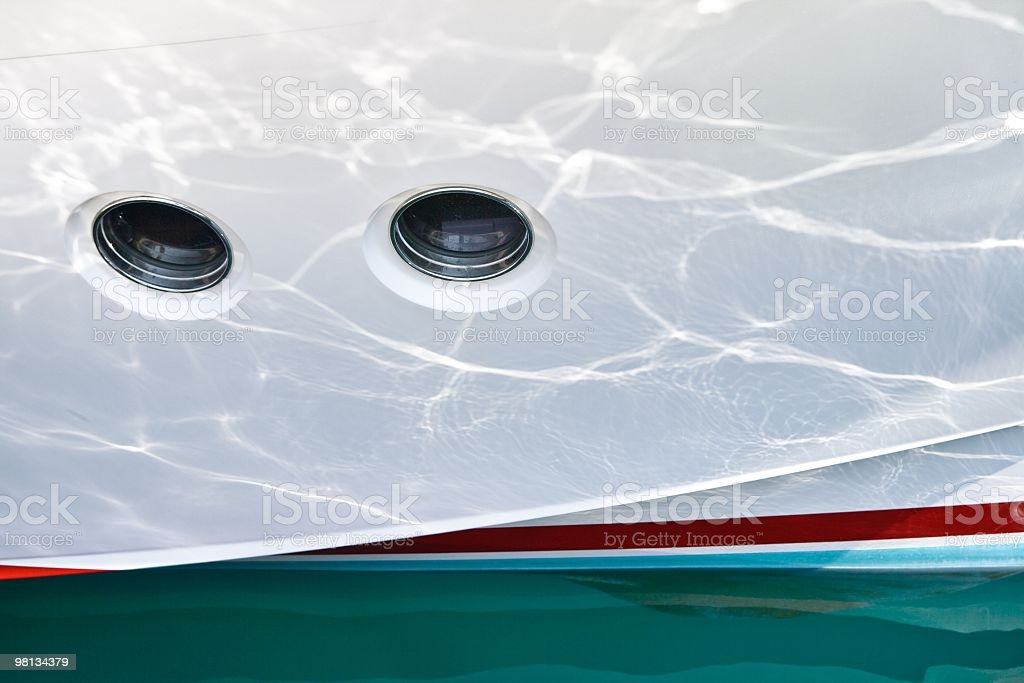 Yacht side royalty-free stock photo