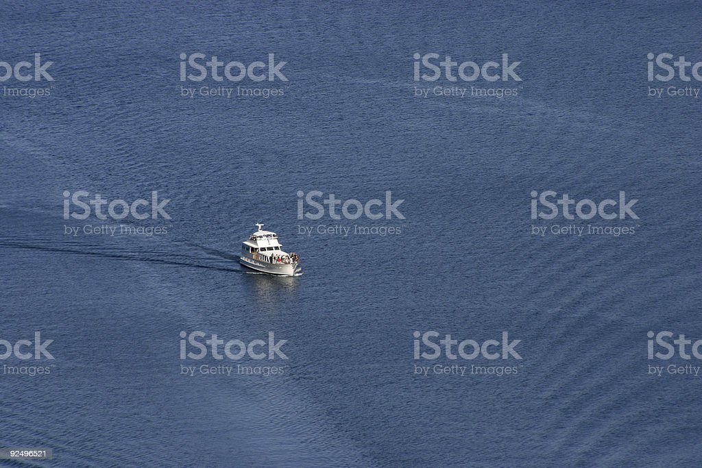Yacht Viewed from Above royalty-free stock photo