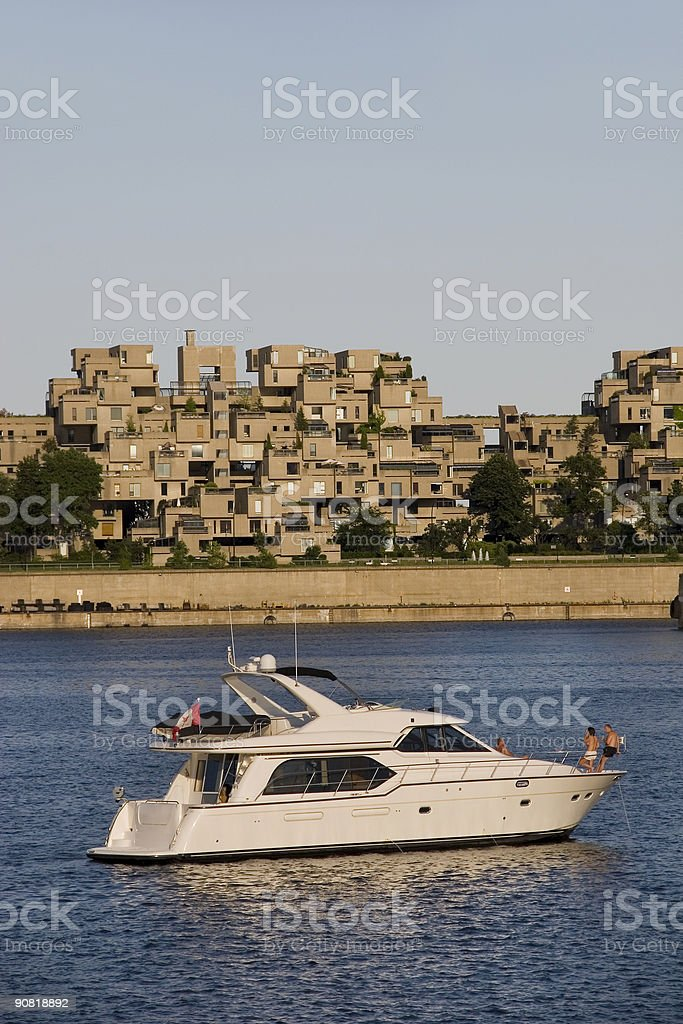 Yachting, Living the good life, Old Montreal royalty-free stock photo