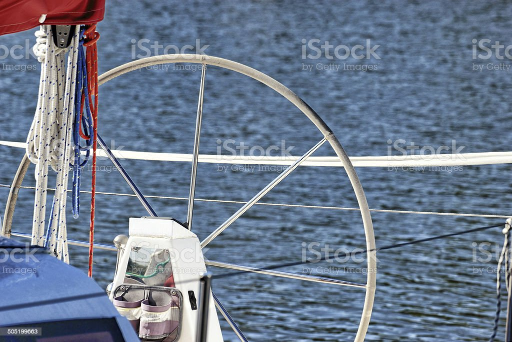 Yachting Parts Of Yacht Detail Of A Sailing Boat Stock Photo