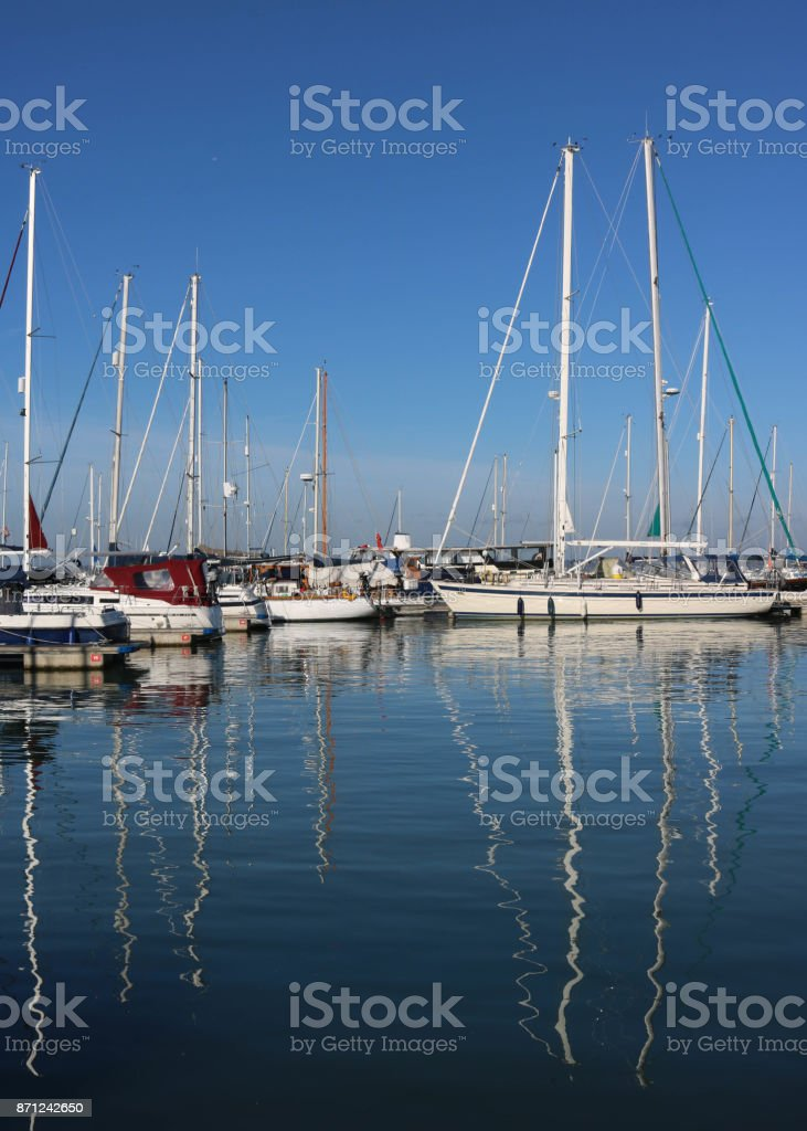 yachting uk stock photo