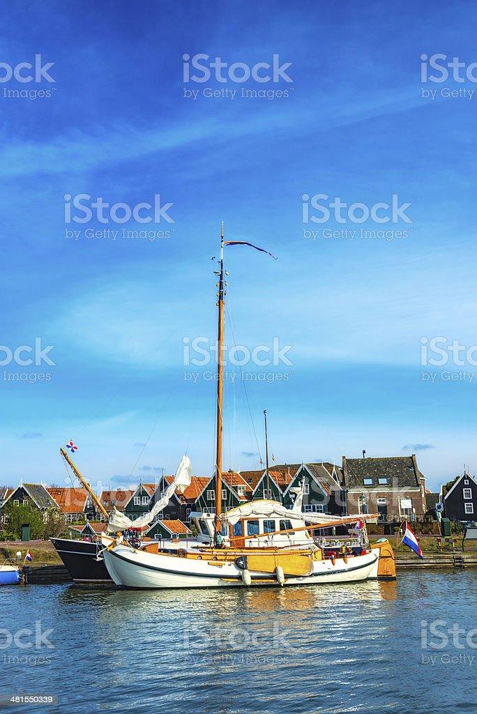 Yachts and Boats at Marina in Netherlands royalty-free stock photo
