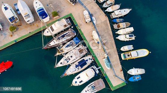642777700 istock photo Yachts and boats in harbor, Croatia 1057491656