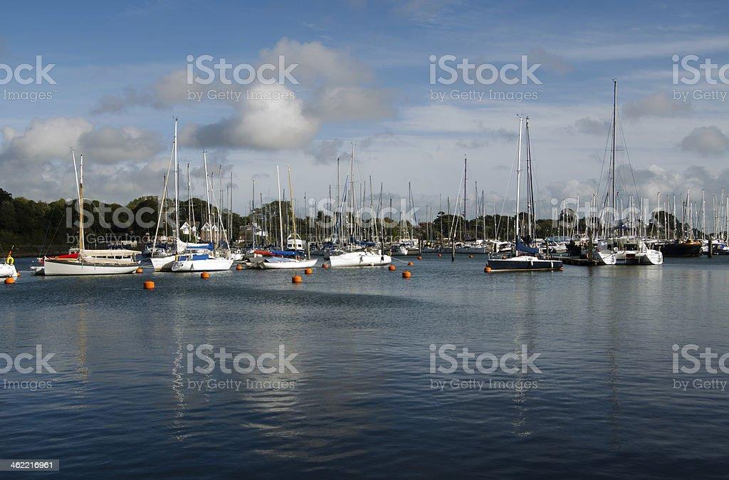 Yachts at Lymington stock photo