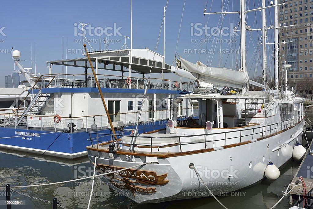 Yachts at North Cove Marina royalty-free stock photo