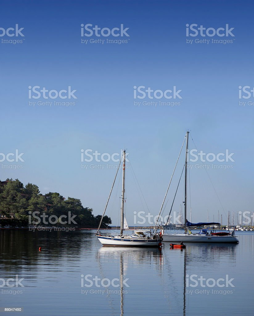 Yachts At The Marina royalty-free stock photo
