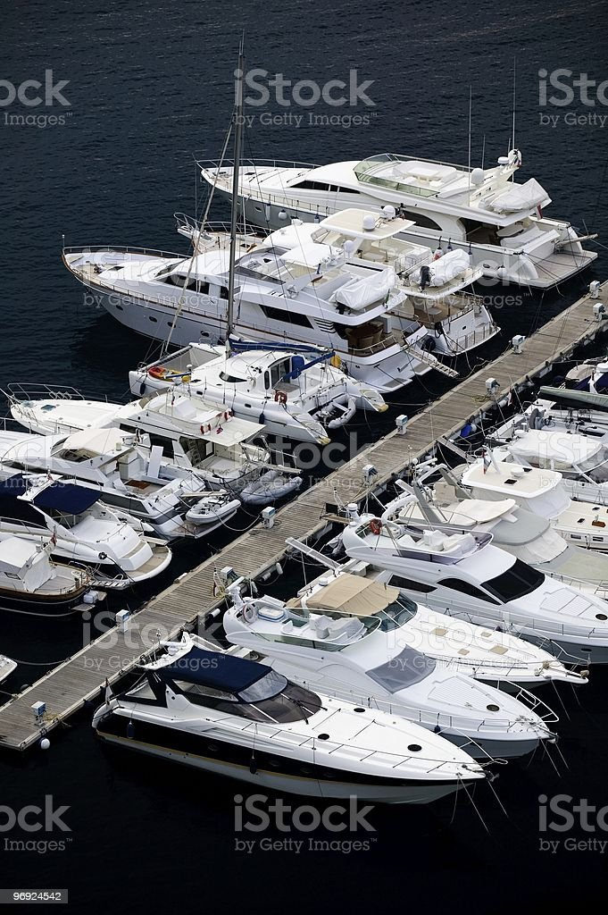 Yachts at the pier royalty-free stock photo