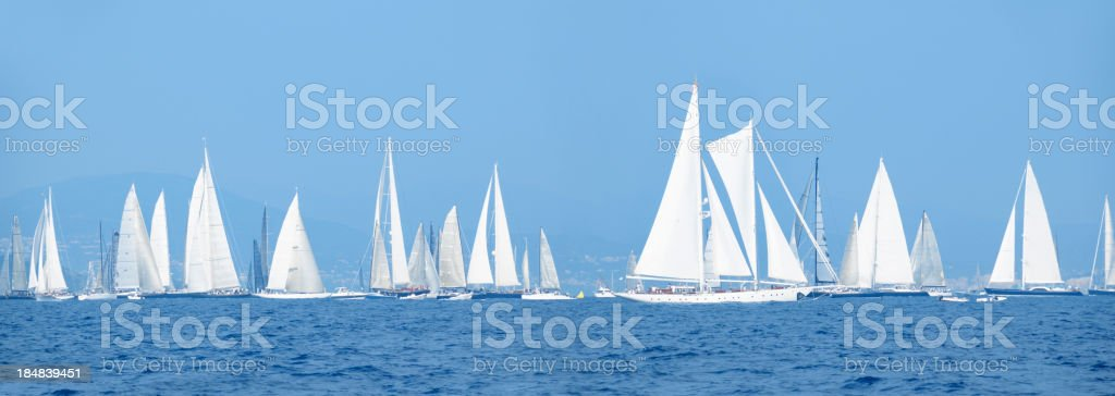 Yachts during the sailing competition royalty-free stock photo