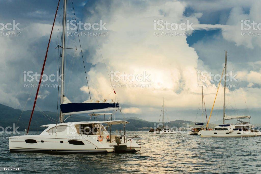 Yachts from the marina royalty-free stock photo