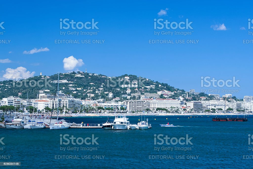 Yachts in Cannes Port Pierre Canto royalty-free stock photo