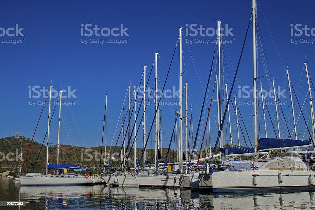 Yachts In Marina stock photo