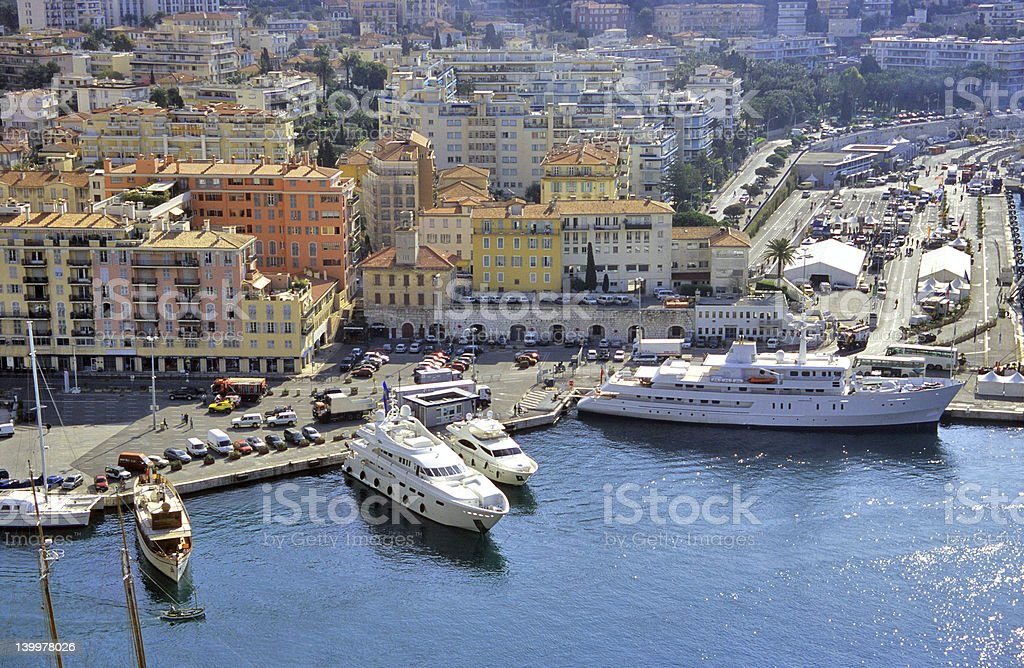 Yachts in Nice Harbour royalty-free stock photo