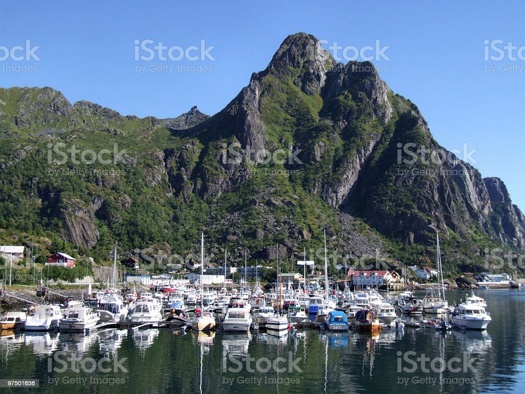 Yachts in Norway royalty-free stock photo