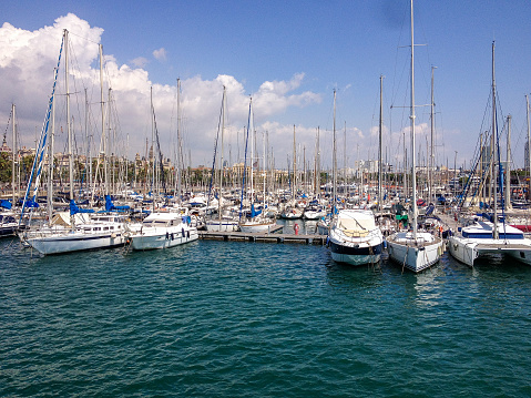 Yachts in Port Vell from Barcelona
