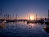 Yachts in Saint-Tropez marina. Provence, France.