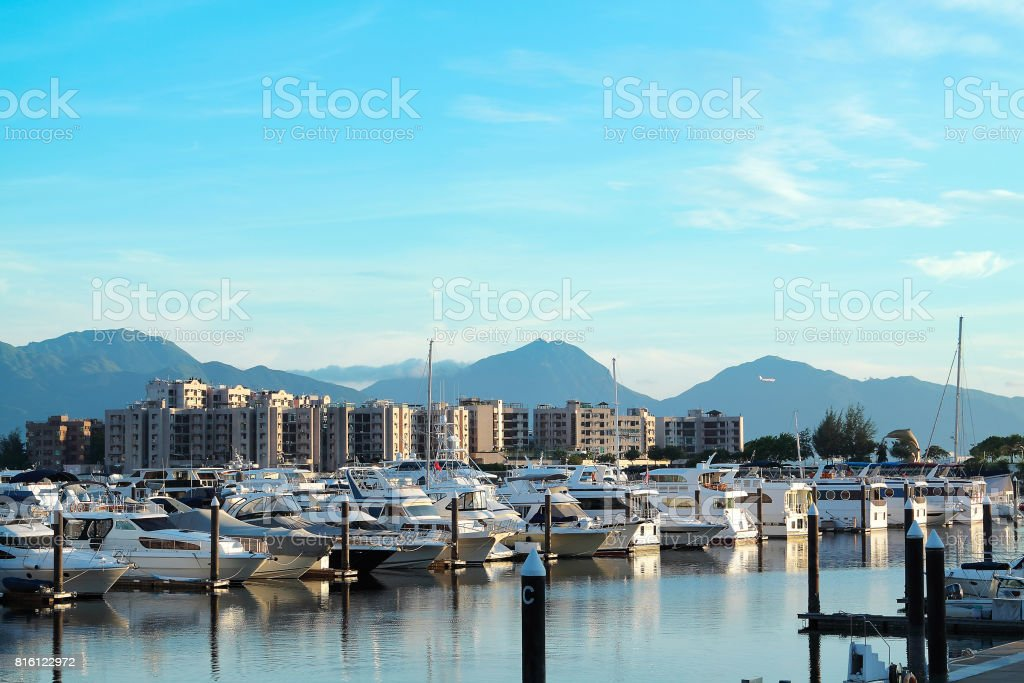 yachts in the golden coast stock photo