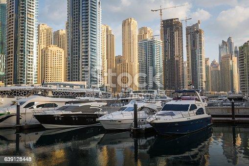 512697874 istock photo Yachts moored at Dubai Marina, United Arab Emirates, Middle East. 639128448