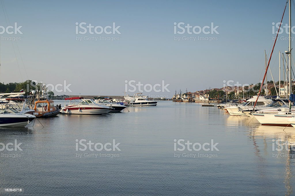 Yachts stock photo