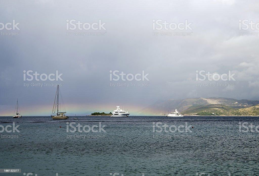 yachts royalty-free stock photo