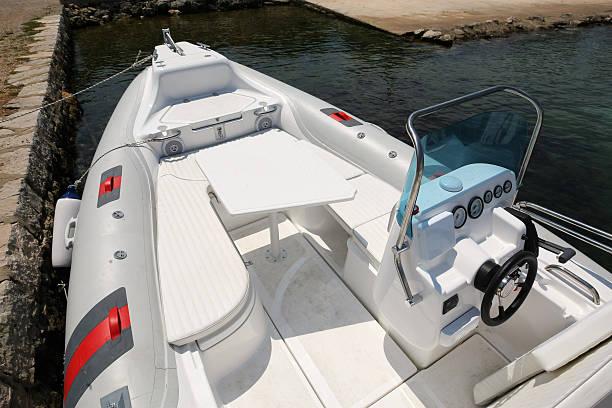 Yachts Tender stock photo