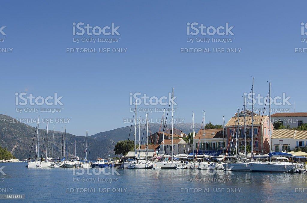 Yacths in Fiscardo royalty-free stock photo