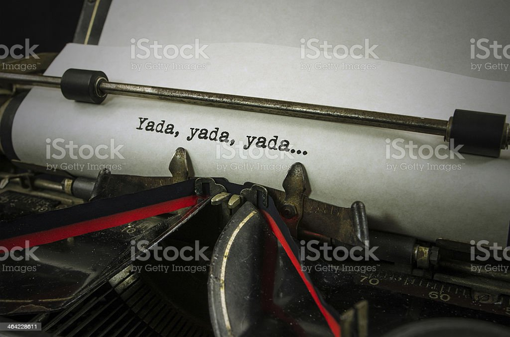 Yada.... stock photo