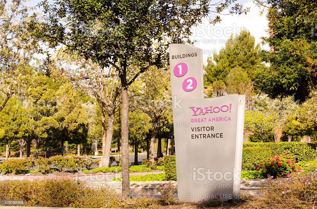 yahoo headquarters in silicon valley stock photo