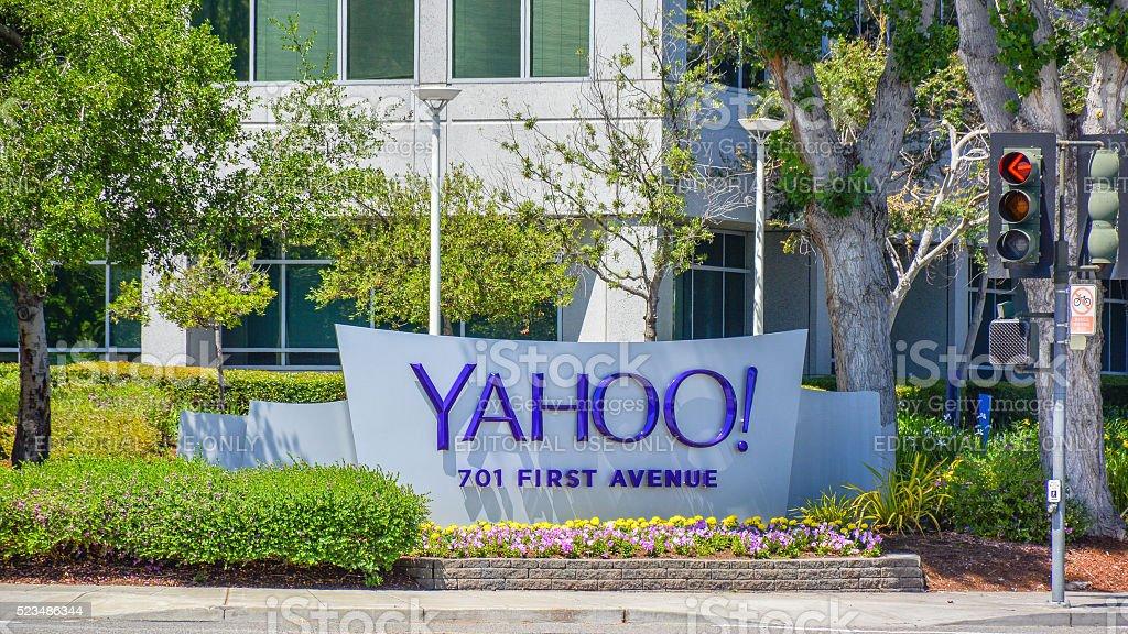 Yahoo Inc. Headquarters - Sunnyvale, CA stock photo