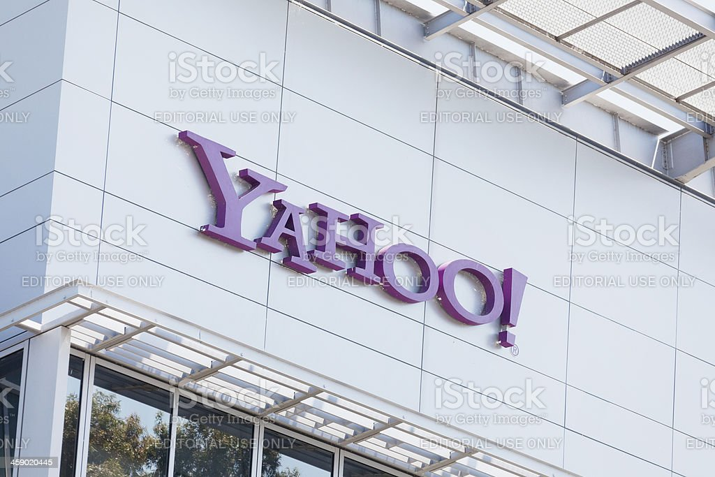 Yahoo Inc in Sunnyvale, California royalty-free stock photo
