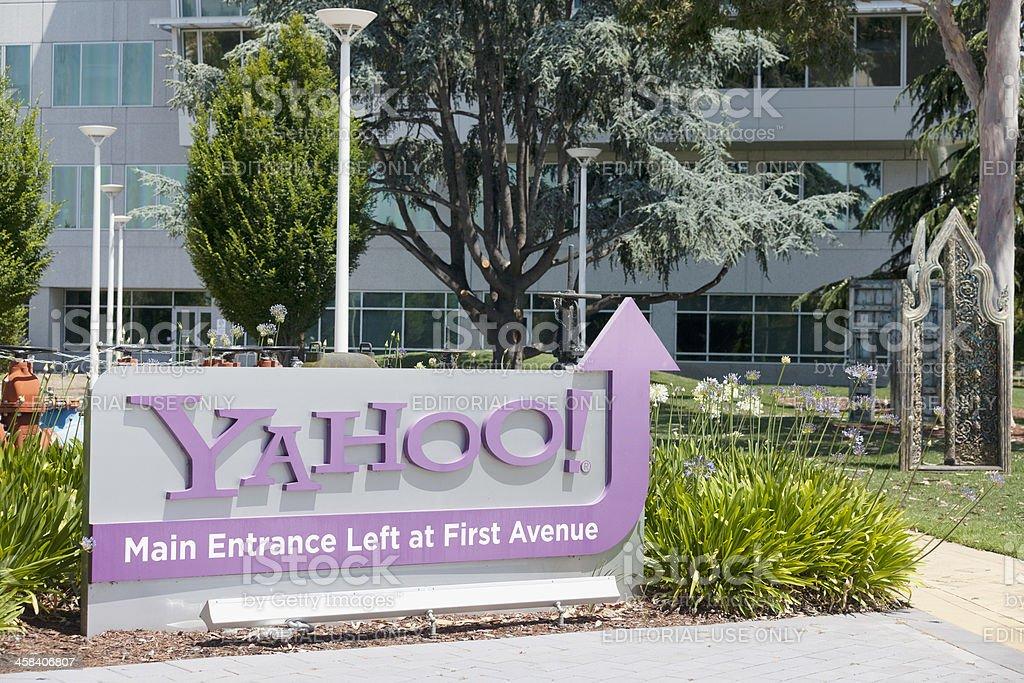 Yahoo main entrance stock photo