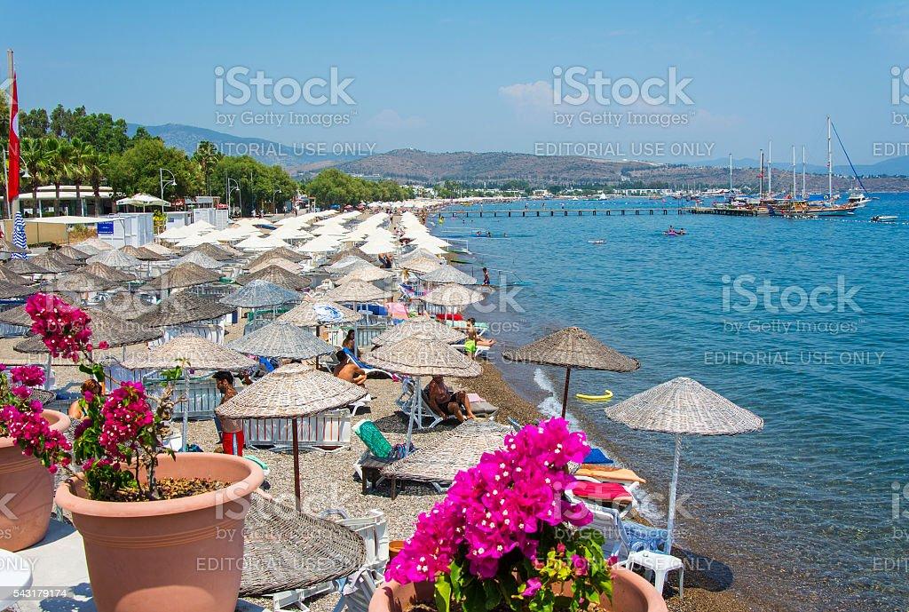 Yahsi Beach in Bodrum stock photo