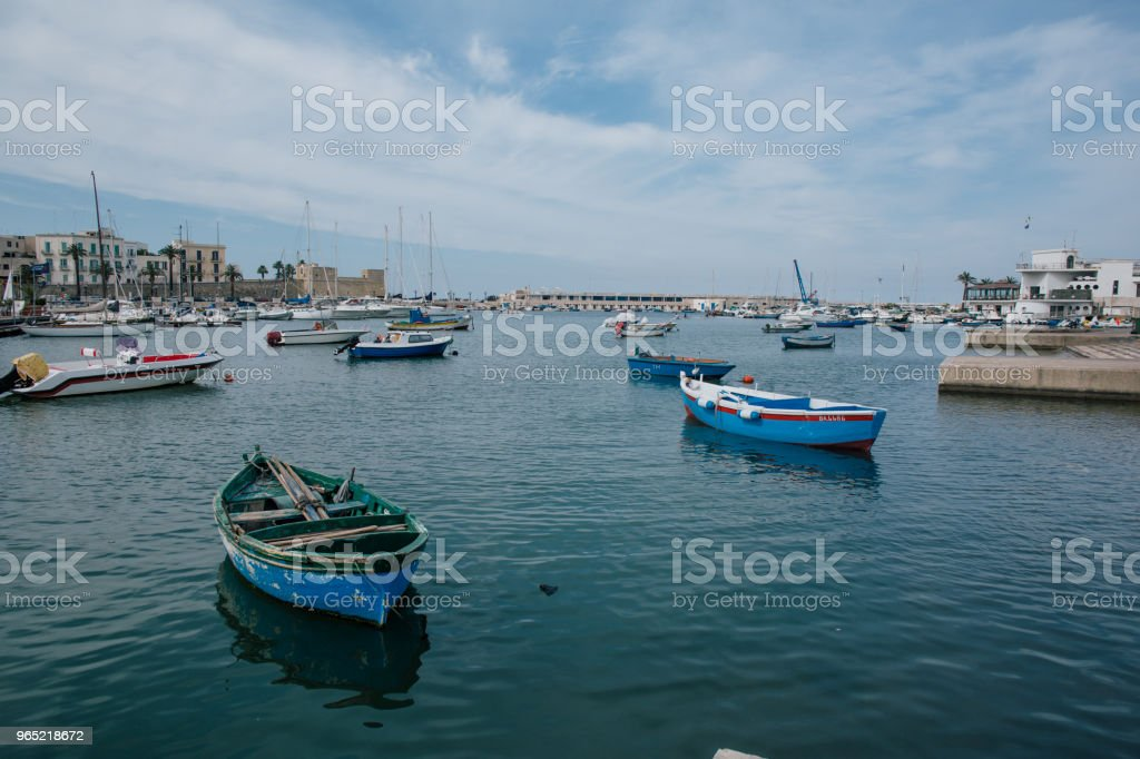 Yahts in Italy bari apulia Venice royalty-free stock photo