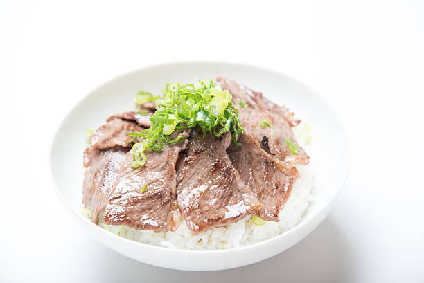 yakiniku rice ball - 丼物 ストックフォトと画像