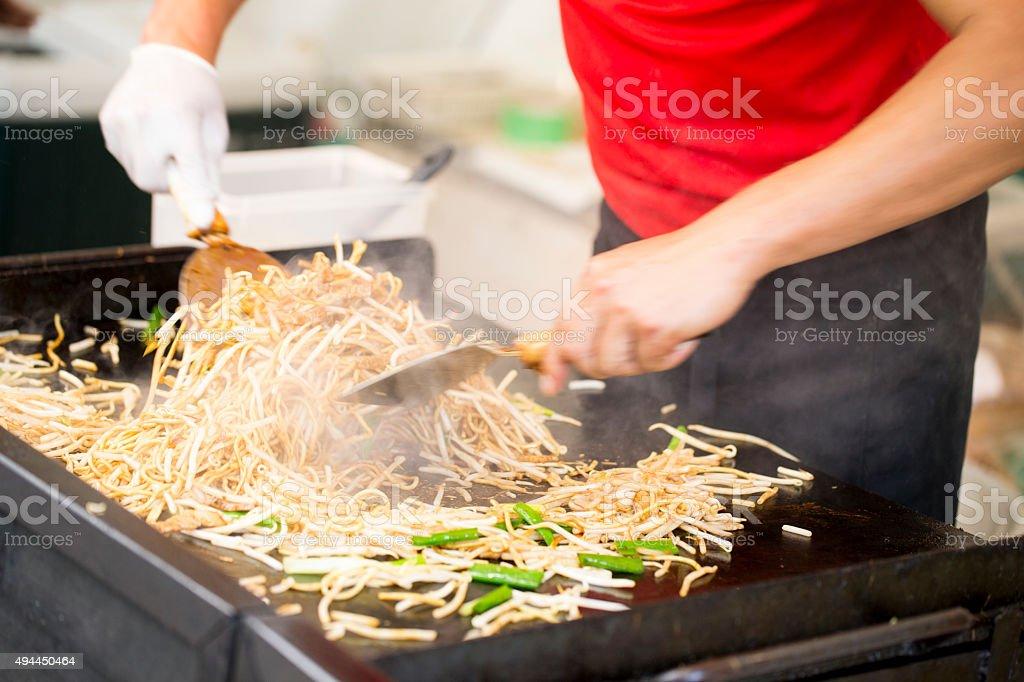 Yakisoba - Japanese Fried Noodles stock photo