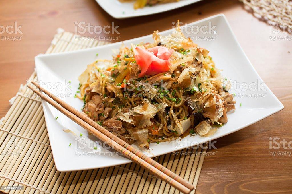 Yakisoba noodles stock photo