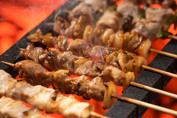 Yakitori Yakitori spit roasted stock pictures, royalty-free photos & images