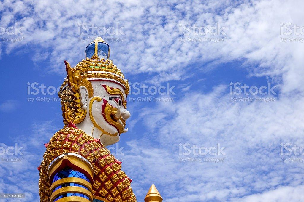 Yaksha, figurine from Thailand stock photo