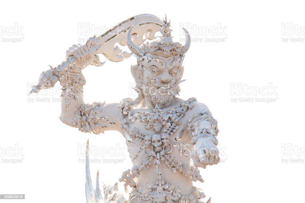 Yaksha or Giant from Thai-Buddhist Myth, the Gatekeeper of Hell stock photo