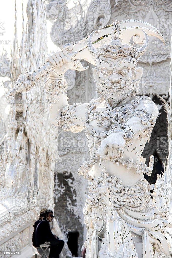 Yaksha or Giant from Thai-Buddhist Myth, the Gatekeeper of Hell. stock photo