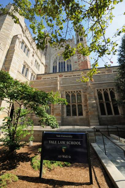 Yale Law School stock photo