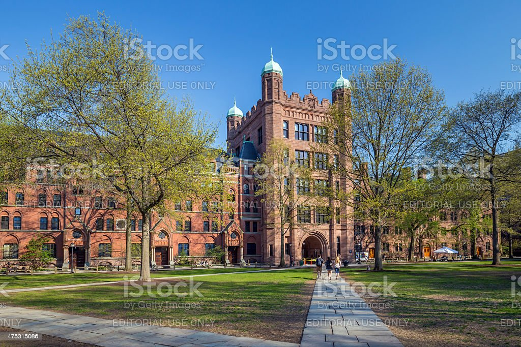 Yale university buildings stock photo